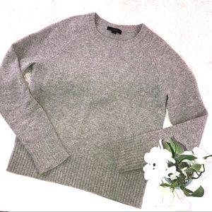 J. Crew Holly Wool Gray Sweater XS